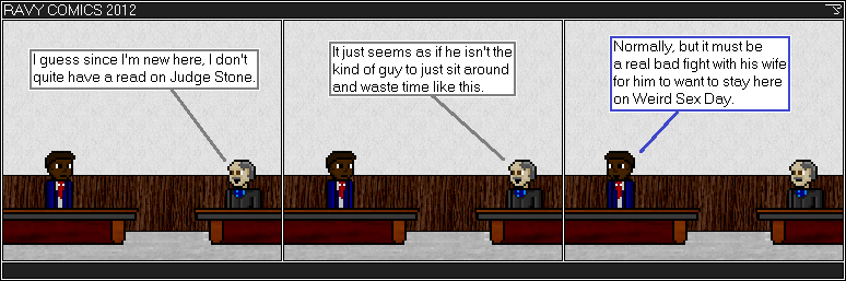 Actually, all the courtroom characters are new, just retconning them in. Of course, this is the third year they have been seen.